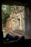 Sleepy Cambodian Boy